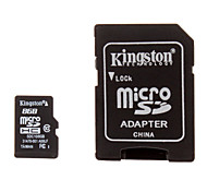 Kingston Class 10 8GB microSDHC TF Memory Card with SD Card Adapter