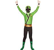 Power Rangers Superhero Green Lycra Full Body Kids' Zentai Suit