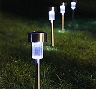 8 White LED Edelstahl Solar Power Licht Outdoor Garten Rasen-Dekoration-Lampe (CIS-57267)