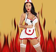 Ragazza poliestere bianco Sexy Nurse Uniform