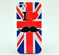 Uk Flag Mustache Soft Tpu Imd Case for iPhone 5/5S