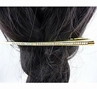 Fashion Beautiful Crystal Gold Hairpins for Women