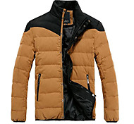 Мужчин Чистая длинным рукавом Зимнее пальто