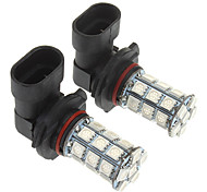 9005 27x5050SMD 150-200LM Red Light LED lamp voor in de auto (12V, 2 stuks)