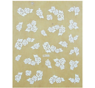 1PCS Rose Pattern Wedding Nail Art Sticker