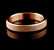 18K Rose Gold Band Ring (Misura 7)
