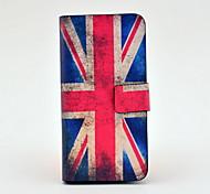 patrón de bandera de la unión de la vendimia de cuerpo completo del caso del tpu de cuero para el iphone 5/5s