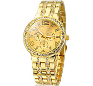 Women's Diamante Gold Dial Alloy Band Quartz Analog Wrist Watch Cool Watches Unique Watches