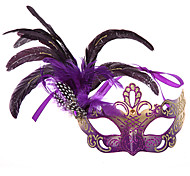 Precious Feather Colorful Women's Carnival Party Mask