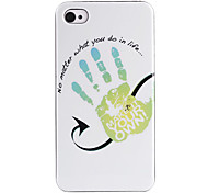 Market Your Own Palm ABS Back Case for iPhone 4/4S