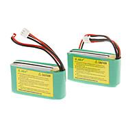 EK1-0181 7.4V 800mAh Li-polimeri di litio (2pcs, verde))