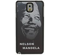 Ricordando Motivo Nelson Mandela design grigio terra Disegno di plastica dura Back Cover per Samsung Galaxy Nota3 N9000