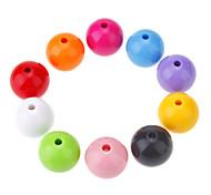 Мода Круглая Форма многоцветный Акриловые DIY бусы 10шт