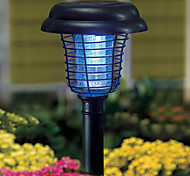 Purple and White Light LED Solar Light Plastic Mosquito Zapper Stake Light Garden Path Lighting