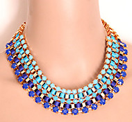 European Style Multicolor Exaggerate Statement Necklace
