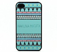 Blue Stripe Pattern Black Frame PC Hard Case for iPhone 4/4S
