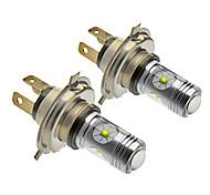H4 25W Cree 1400LM 5500-6500K Cool White Light LED Bulb for Car (12V-24V,2pcs)