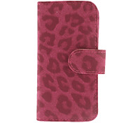 Leopard Print Clamshell Full Body Case with Card Slot and Stand for iPhone 5/5S (Assorted Colors)