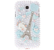 For Samsung Galaxy Case Rhinestone / Pattern Case Back Cover Case Eiffel Tower PC Samsung S4