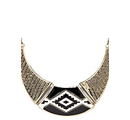 Vintage Black C Style Choker Necklace
