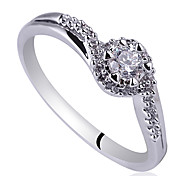 Delicate Lady Sterling Silver Wedding Ring With Cubic Zirconia