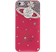 For iPhone 5 Case Rhinestone Case Back Cover Case 3D Cartoon Hard PC iPhone SE/5s/5