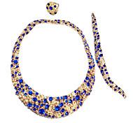 z&X® boda de la manera sistemas de la joyería con collar / pulseras / anillos / pendientes de color azul