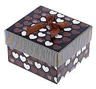 Bowknot Decor Sweet Heart Pattern Cubic Watch Box (Assorted Colors)