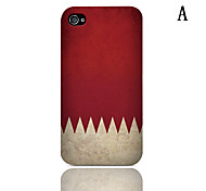 Vintage Flag Series Pattern Hard Case with 3-Pack Screen Protectors for iPhone 4/4S