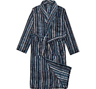 Банный халат, Велюр в полоску печати одежды - 2 Имеющийся размер