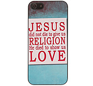 Character Design English Sentences Pattern Smooth Hard Case for iPhone 5/5S