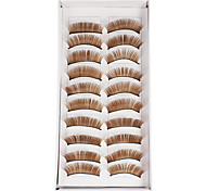 10Pcs False Eyelashes(Coffee)