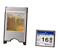 16G Ultra-Digital-Compactflash-Karte mit Adapter PCMCI
