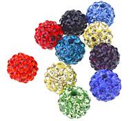 Mode Forme ronde multicolore perles en cristal de bricolage 10pcs
