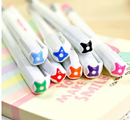 8 Color Jell Line Pattern Colorful Gel Pen(8 PCS)
