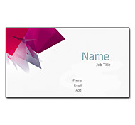 200pcs Personalized 2 Sides Printed Matte Film Pink Business Card
