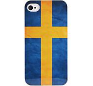 bandeira sueco abs de volta caso para iphone 4/4s