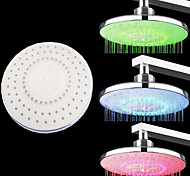 8-inch RGB Temperature Detectable ABS LED Color Changing Hand Shower