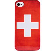 bandeira suíça abs de volta caso para iphone 4/4s