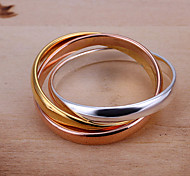 (1 Pc)Sweet Women's Multicolor Copper Ring(size 8#)