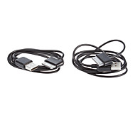 2 USB Sync Batería Cargador Cable de datos para Samsung Galaxy Tab Tablet PLUS 7.0 ""