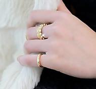 Klassische Damen Midi Ringe (Gold) (1 PC) (Größe 3,5 -5,5 # #)