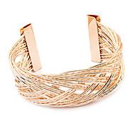 Alloy Goldene Weave öffnen Armband