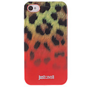 Stylish Leopard Print Pattern Red Smooth Anti-shock Case for iPhone 4/4S