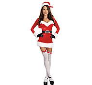 Costume Natal clássico de Santa bebê Sexy Velvet Mulheres