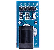 DC Power Adapter Plate - Black + Blue