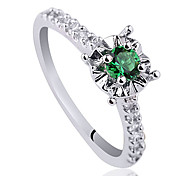 Classic Round Base S925 Sterling Silver Wedding Ring With Cubic Zirconia