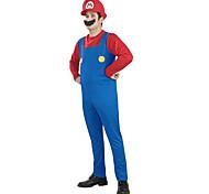 Super Mario Unisex Halloween Costume with Beard (for Height 168-180)