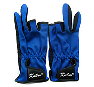 Three Mitten Canvas Blue Keep Warm Waterproof Fishing Glove