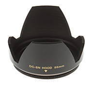 55mm Universal Lens Hood for Camera (Black)